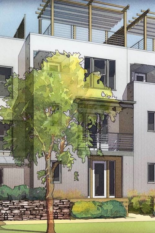 Design sketch of Daybreak Townhome