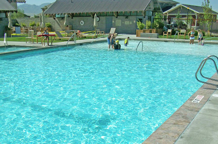 Local pool near Daybreak townhomes