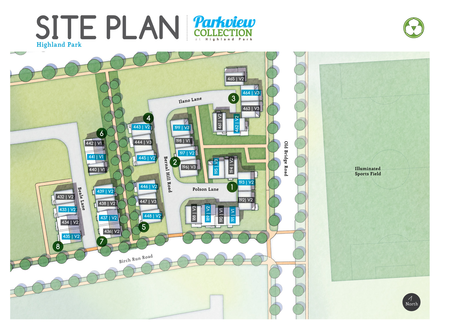 Highland Park at Daybreak Site Plan
