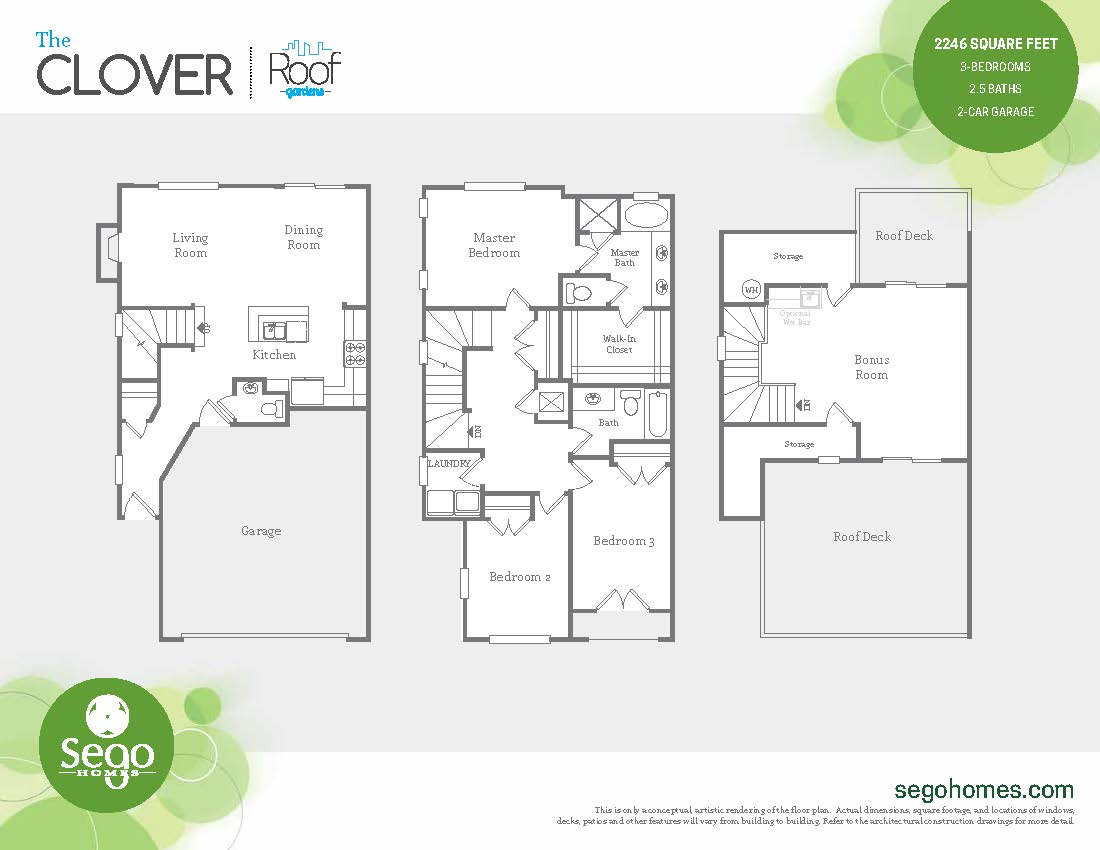 Floorplan handout of the Clover at Sugar House