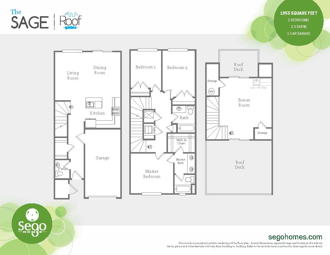 Floorplan handout of the Sage at Sugar House