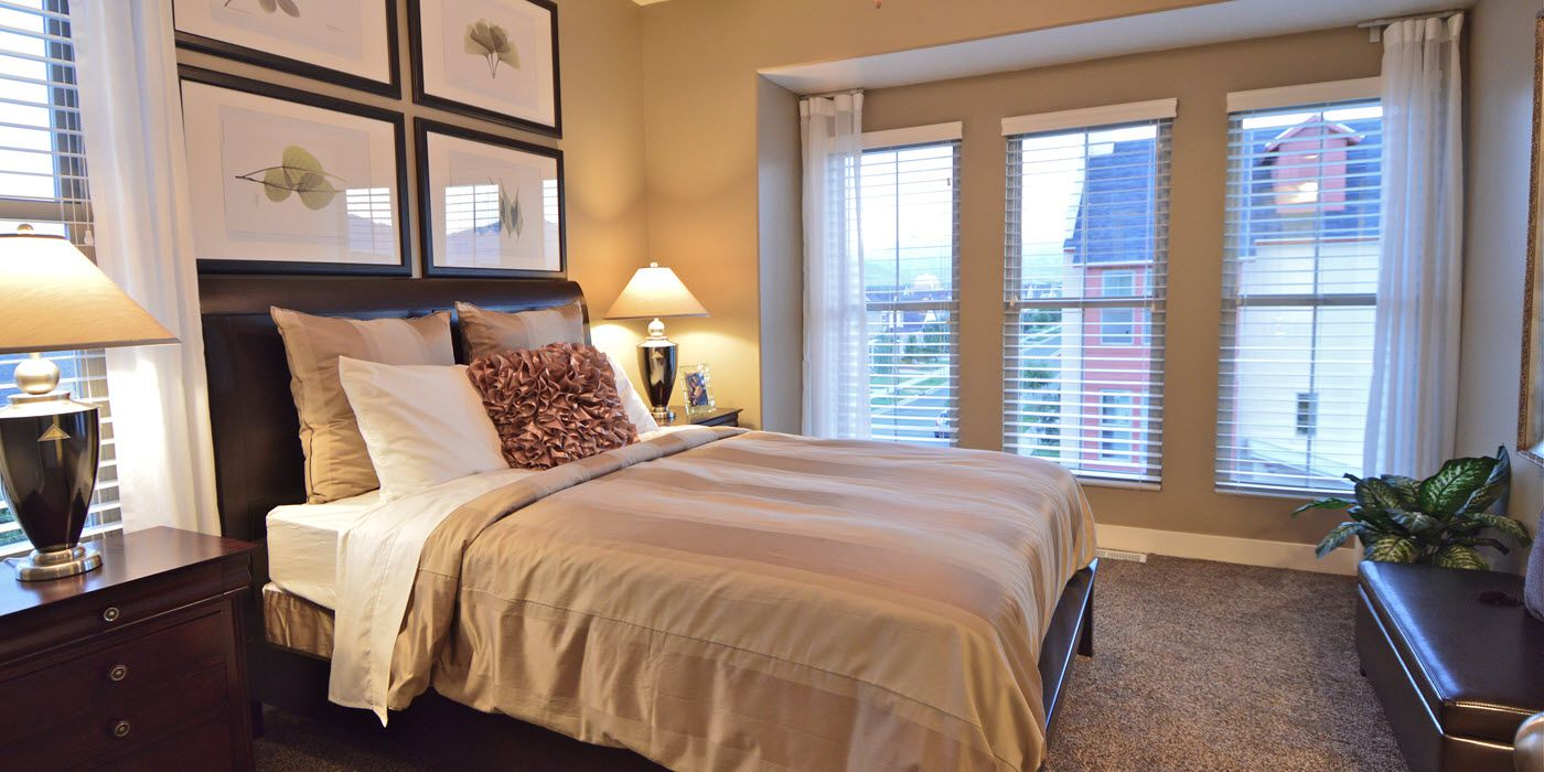 master bedroom of Daybreak townhouse