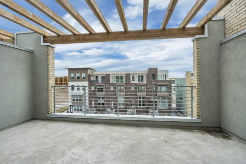 Private Roof Deck with Wooden Pergola