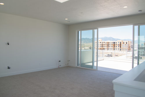 Lot 227 Sky Room and Roof Deck with 16-foot glass sliding doors