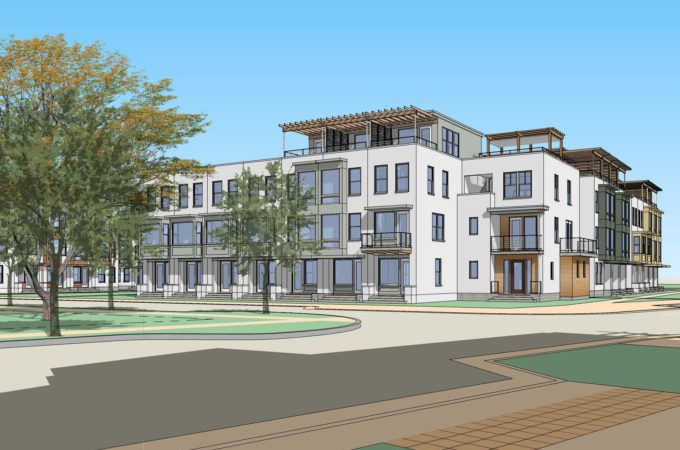 Rendering of the Urban Townhomes at Daybreak